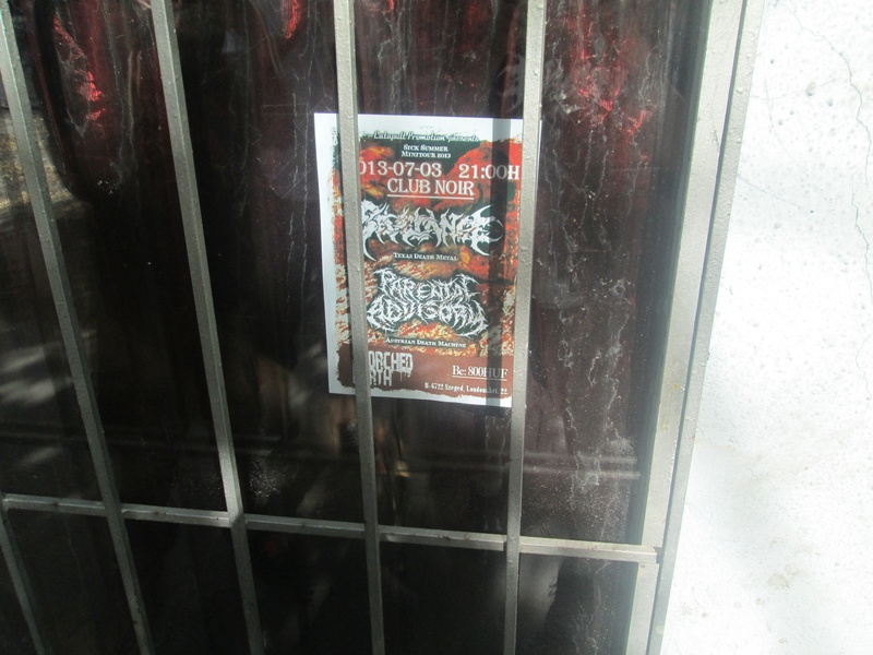 An imprisoned promotional flyer...